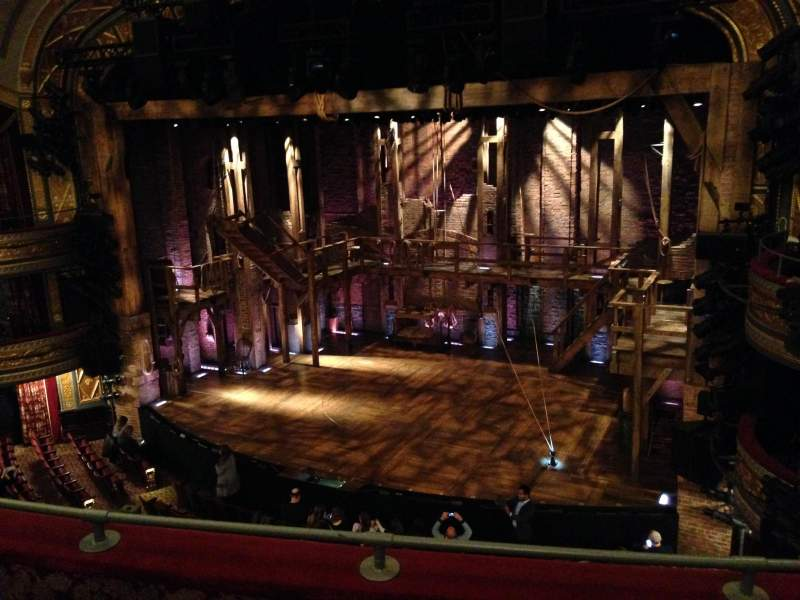 Seating view for Richard Rodgers Theatre Section Front Mezzanine R Row C Seat 14