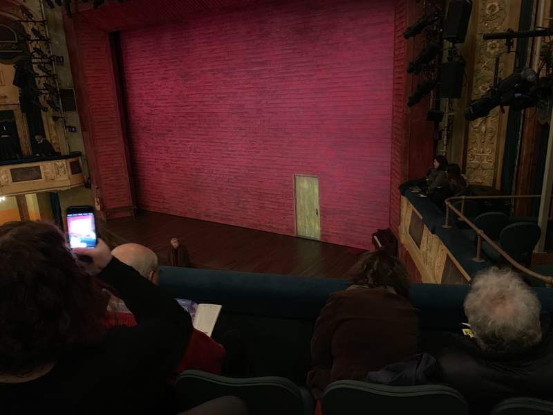 Seating view for Shubert Theatre Section Mezzanine R Row C Seat 20