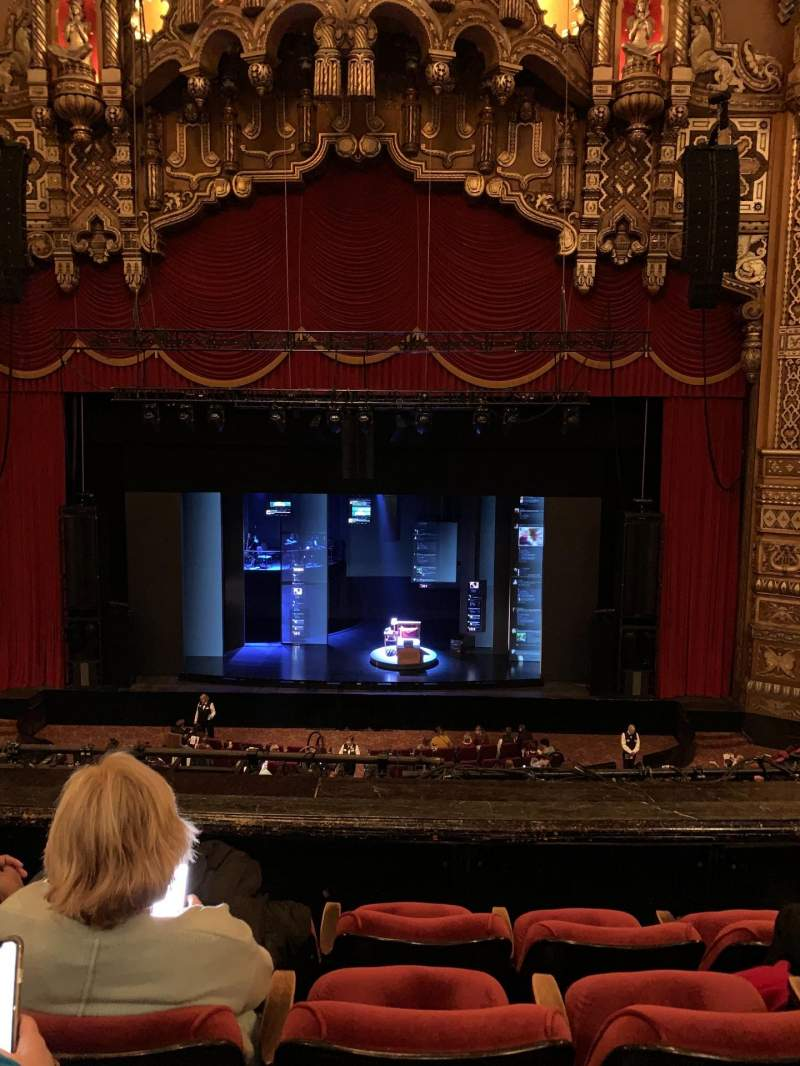 Seating view for The Fabulous Fox Theatre (St. Louis) Section Balcony MZ04 Row RowDD Seat 104