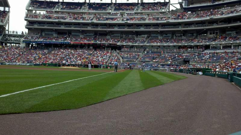 Seating view for Nationals Park Section 110 Row A Seat 10