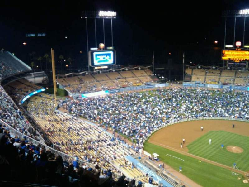Seating view for Dodger Stadium Section Top Deck Row P Seat 21