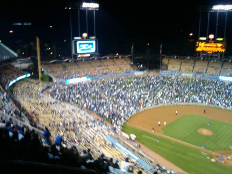 Seating view for Dodger Stadium Section 7TD Row o Seat 23