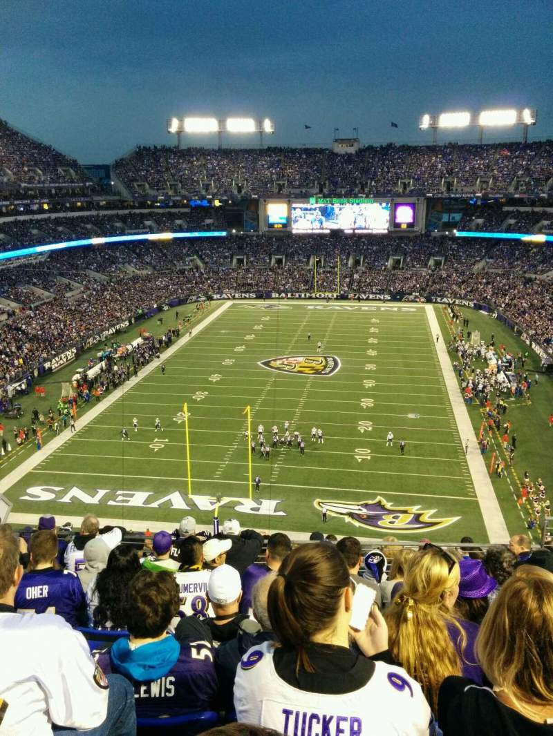 Seating view for M&T Bank Stadium Section 512 Row 11 Seat 10