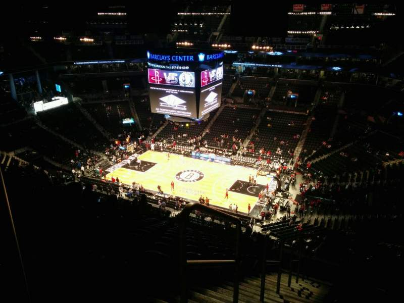 Seating view for Barclays Center Section 221 Row 16 Seat 26