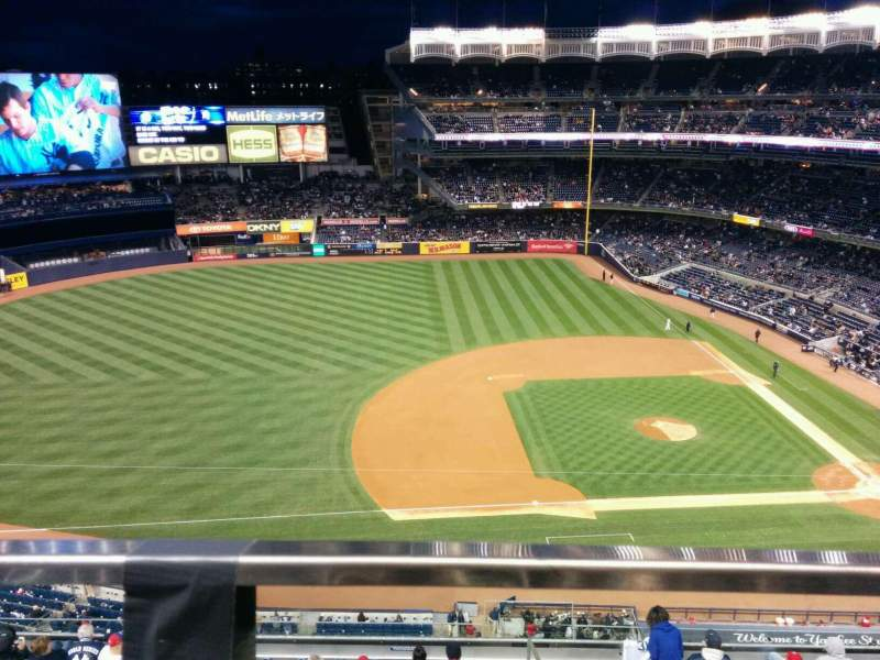 Seating view for Yankee Stadium Section 425 Row 1 Seat 18