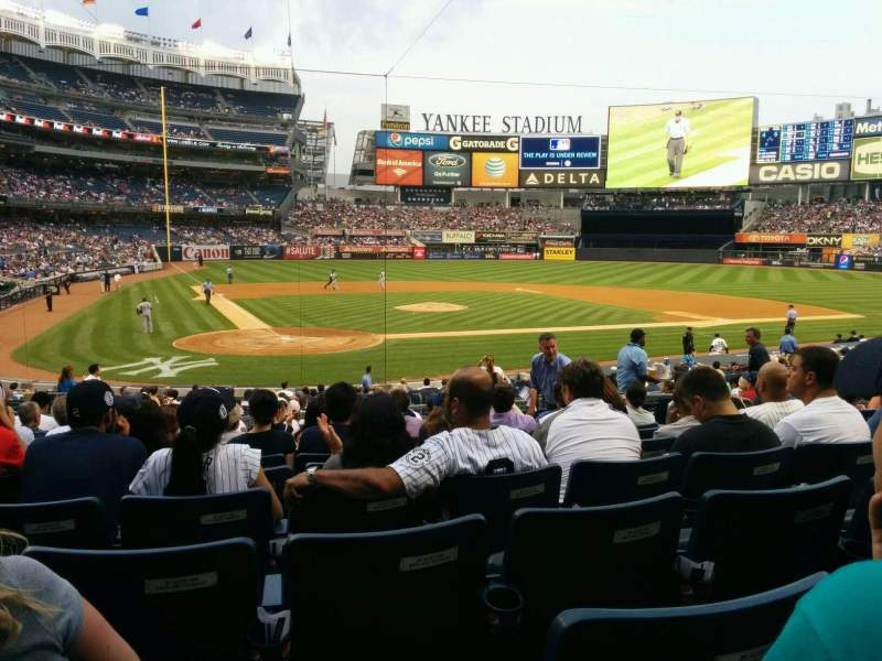 Seating view for Yankee Stadium Section 118 Row 24 Seat 5
