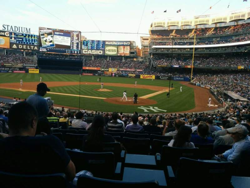 Seating view for Yankee Stadium Section 121a Row 26 Seat 8