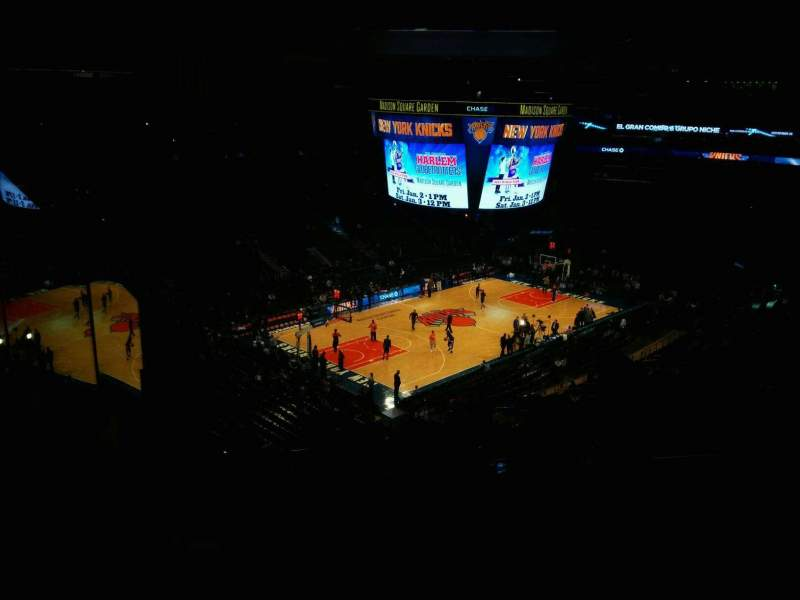 Seating view for Madison Square Garden Section 220 Row 13 Seat 20