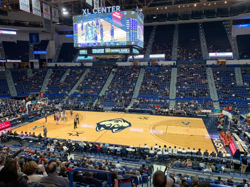Seating view for XL Center Section 114 Row X Seat 13