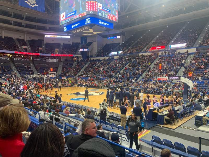 Seating view for XL Center Section 113 Row J Seat 9