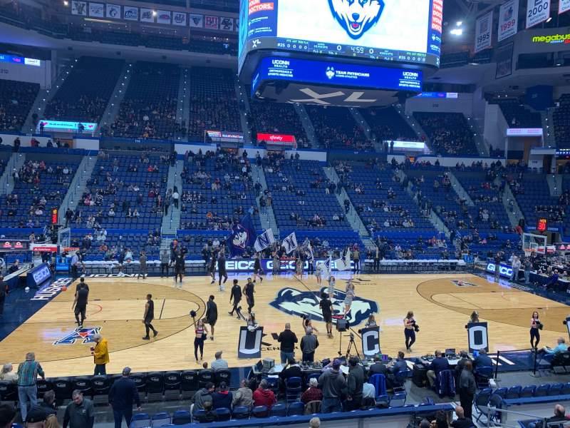 Seating view for XL Center Section 104 Row P Seat 13