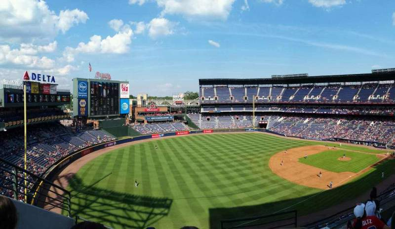 Seating view for Turner Field Section 422 Row 4 Seat 101
