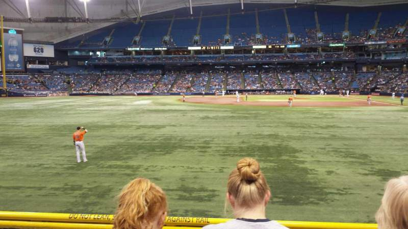 Seating view for Tropicana Field Section 143 Row V Seat 6
