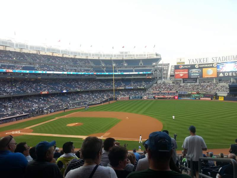 Seating view for Yankee Stadium Section 214A Row 15 Seat 1