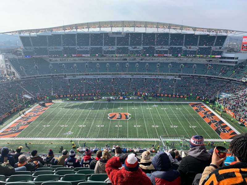 Seating view for Paul Brown Stadium Section 340 Row 23 Seat 6
