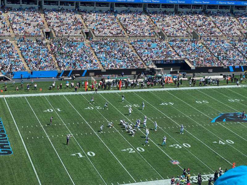 Seating view for Bank of America Stadium Section 546 Row 11 Seat 20