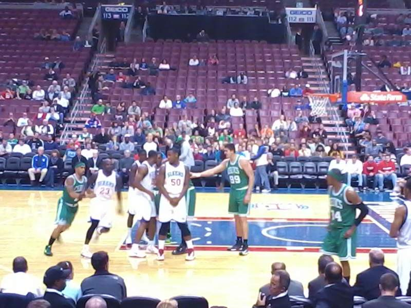 Seating view for Wells Fargo Center Section 102 Row 7 Seat 11