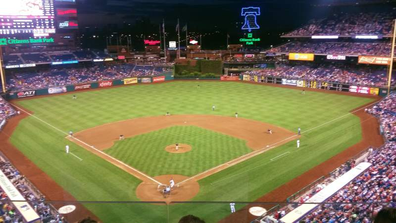 Seating view for Citizens Bank Park Section 320 Row 3 (last) Seat 10