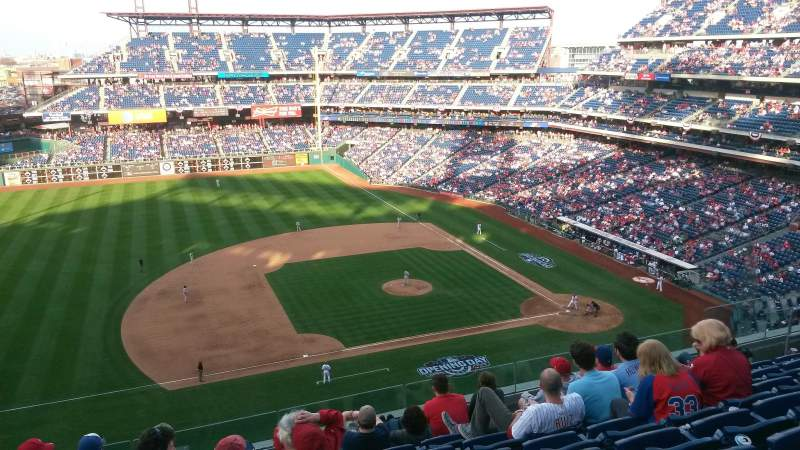 Seating view for Citizens Bank Park Section 327 Row 8 Seat 16