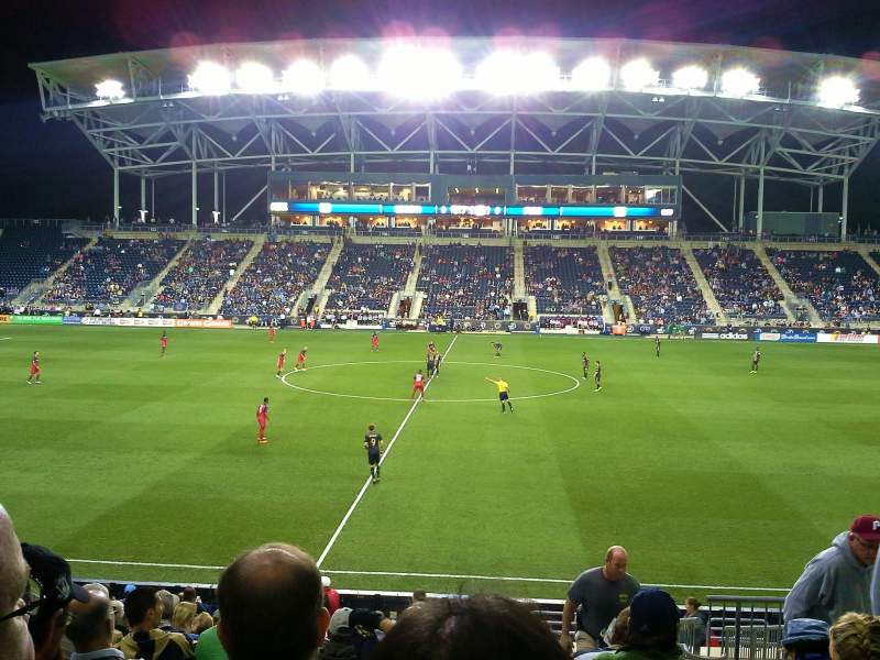 Seating view for Talen Energy Stadium Section 127 Row R Seat 3