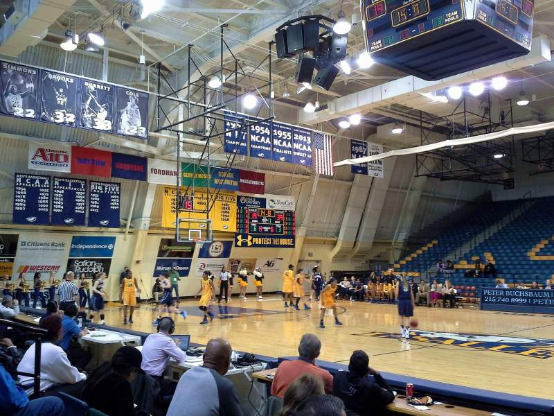 Seating view for Tom Gola Arena Section W2 Row 4