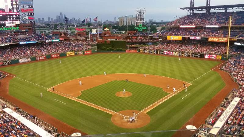 Seating view for Citizens Bank Park Section 321 Row 3 Seat 12