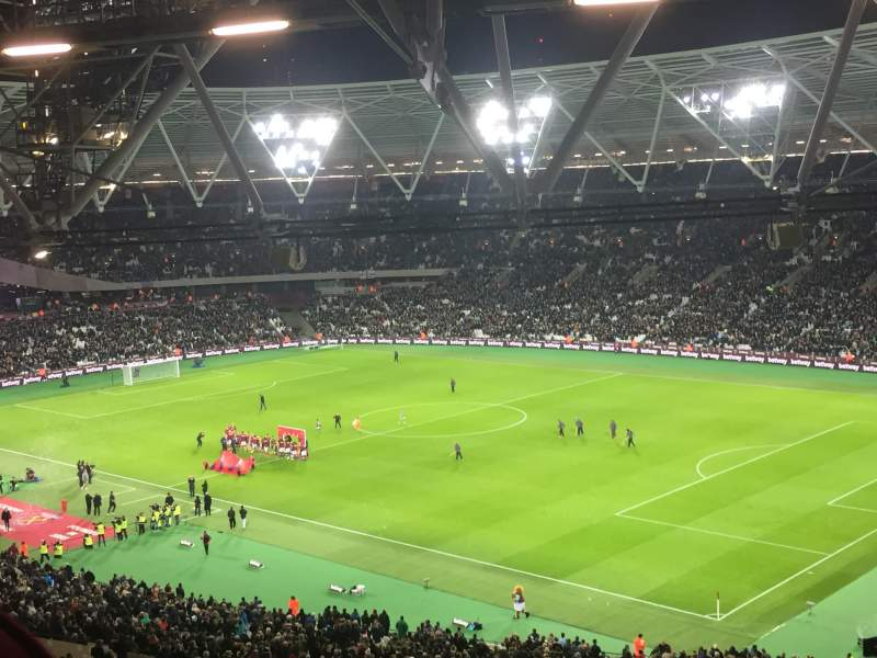 Seating view for London Stadium Section 214 Row 64 Seat 240
