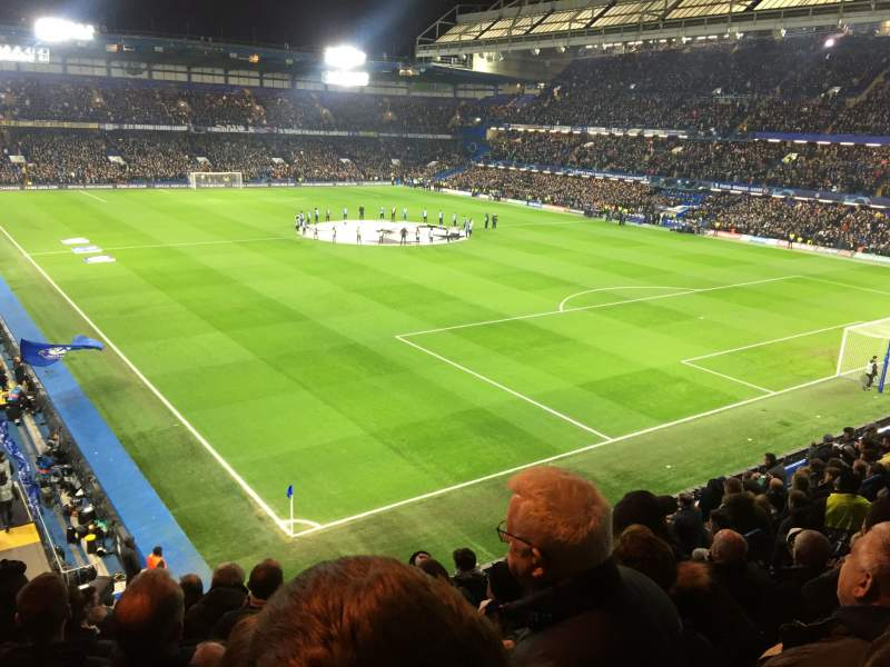Seating view for Stamford Bridge Section Shed End Upper 7 Row 12 Seat 232