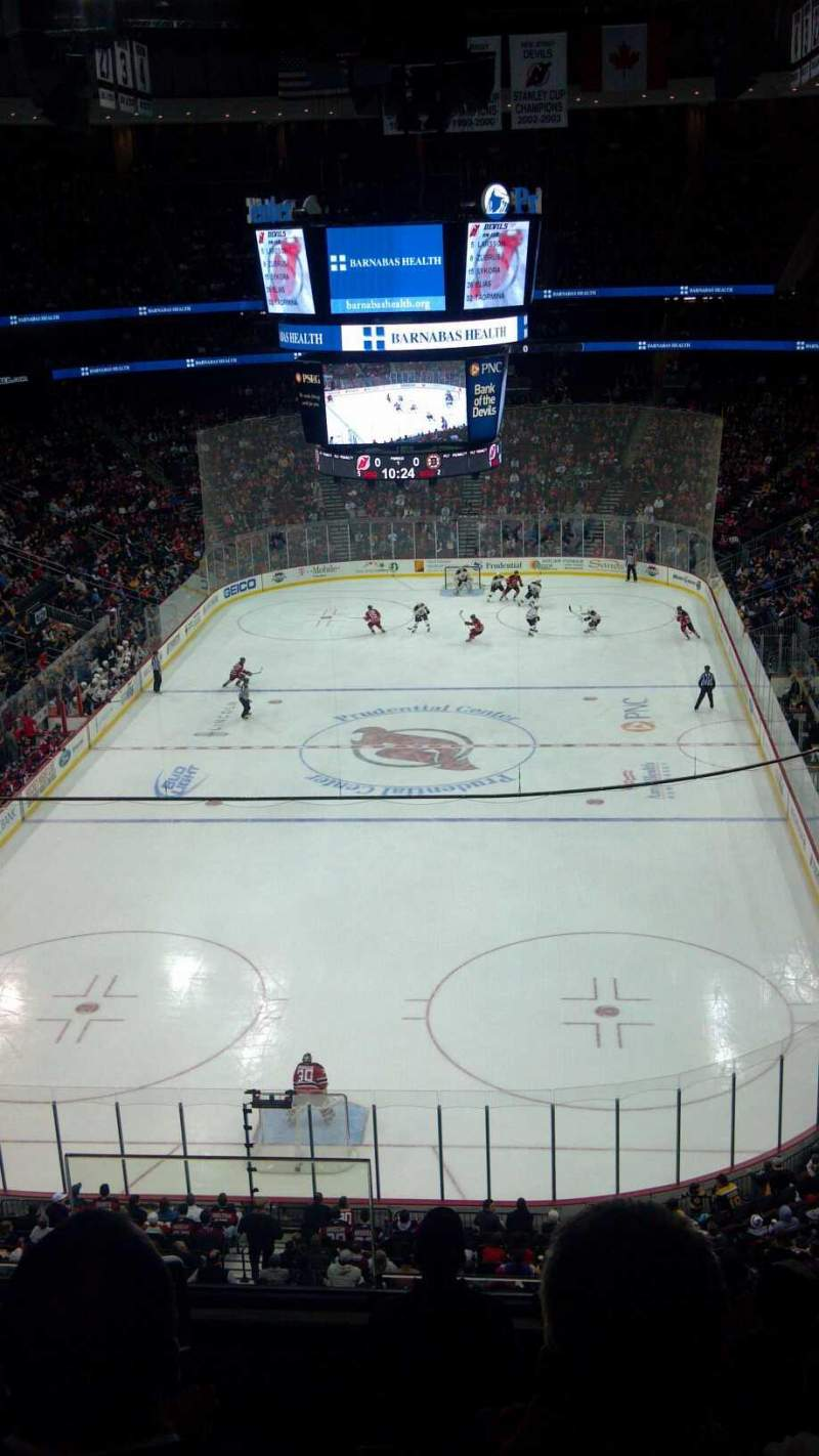 Seating view for Prudential Center Section 121 Row 14 Seat 15