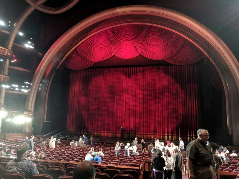 Seating view for Dolby Theatre Section Parterre C Row F Seat 1