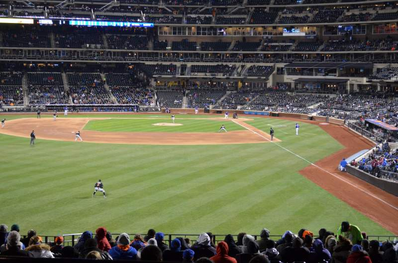Seating view for Citi Field Section Caesars Gold 318 Row 3 Seat 1 - 4