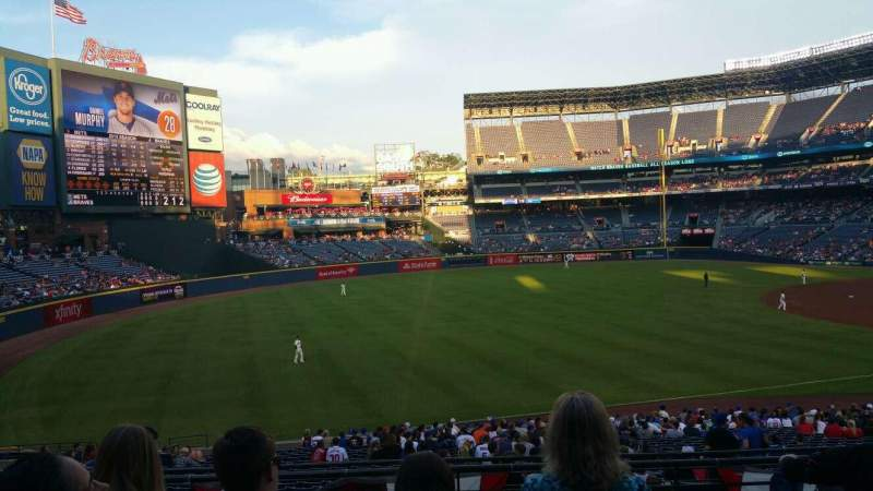 Seating view for Turner Field Section 224L Row 5 Seat 8