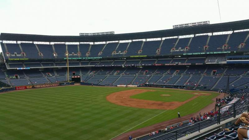 Seating view for Turner Field Section 326 Row 5 Seat 10
