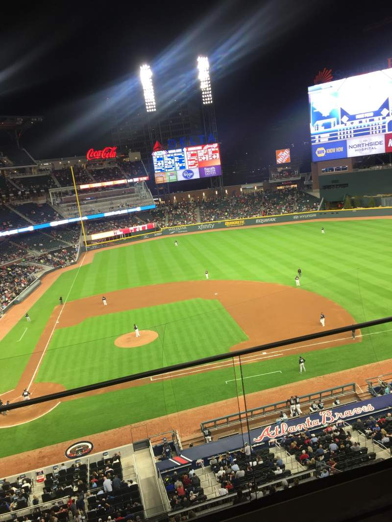 Seating view for SunTrust Park Section 322 Row 2 Seat 4