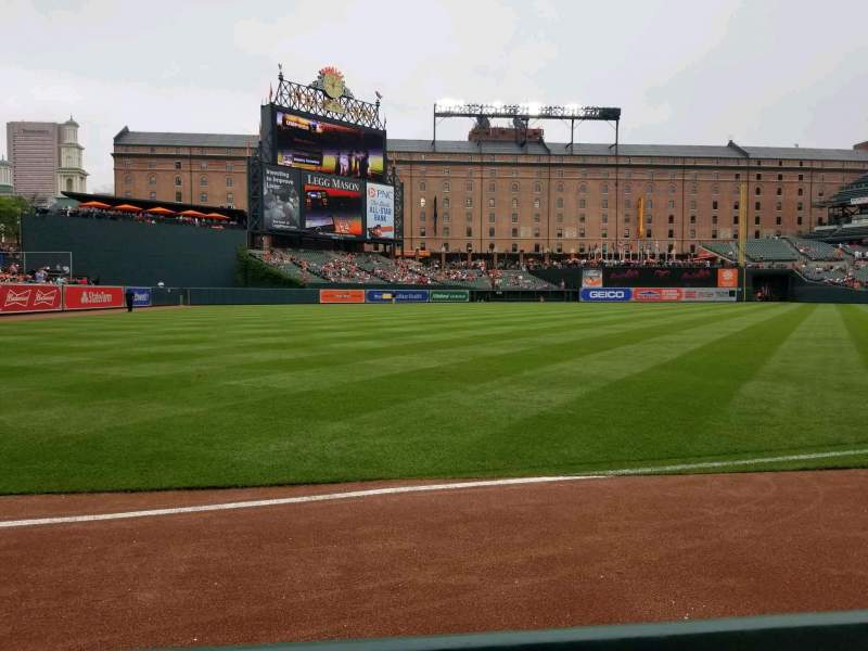 Seating view for Oriole Park at Camden Yards Section 68 Row 1 Seat 9