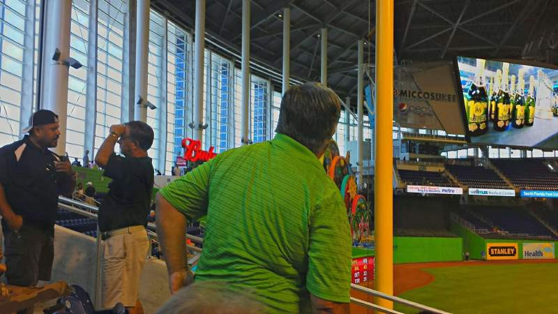 Seating view for Marlins Park Section 28 Row 20 Seat 7