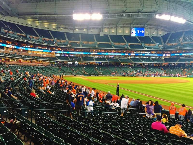 Seating view for Minute Maid Park Section 131 Row 15 Seat 15