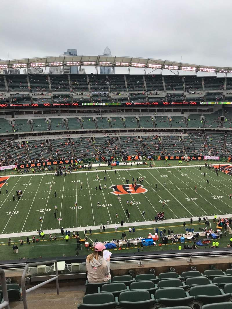 Seating view for Paul Brown Stadium Section 311 Row 7 Seat 22
