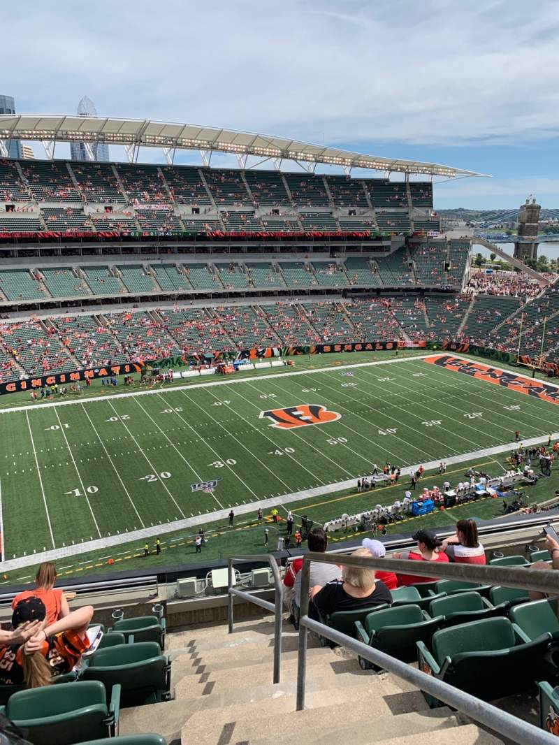 Seating view for Paul Brown Stadium Section 314 Row 7 Seat 1