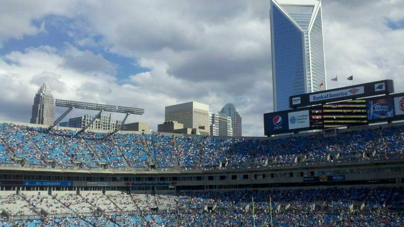 Seating view for Bank of America Stadium Section 349 Row 13 Seat 1