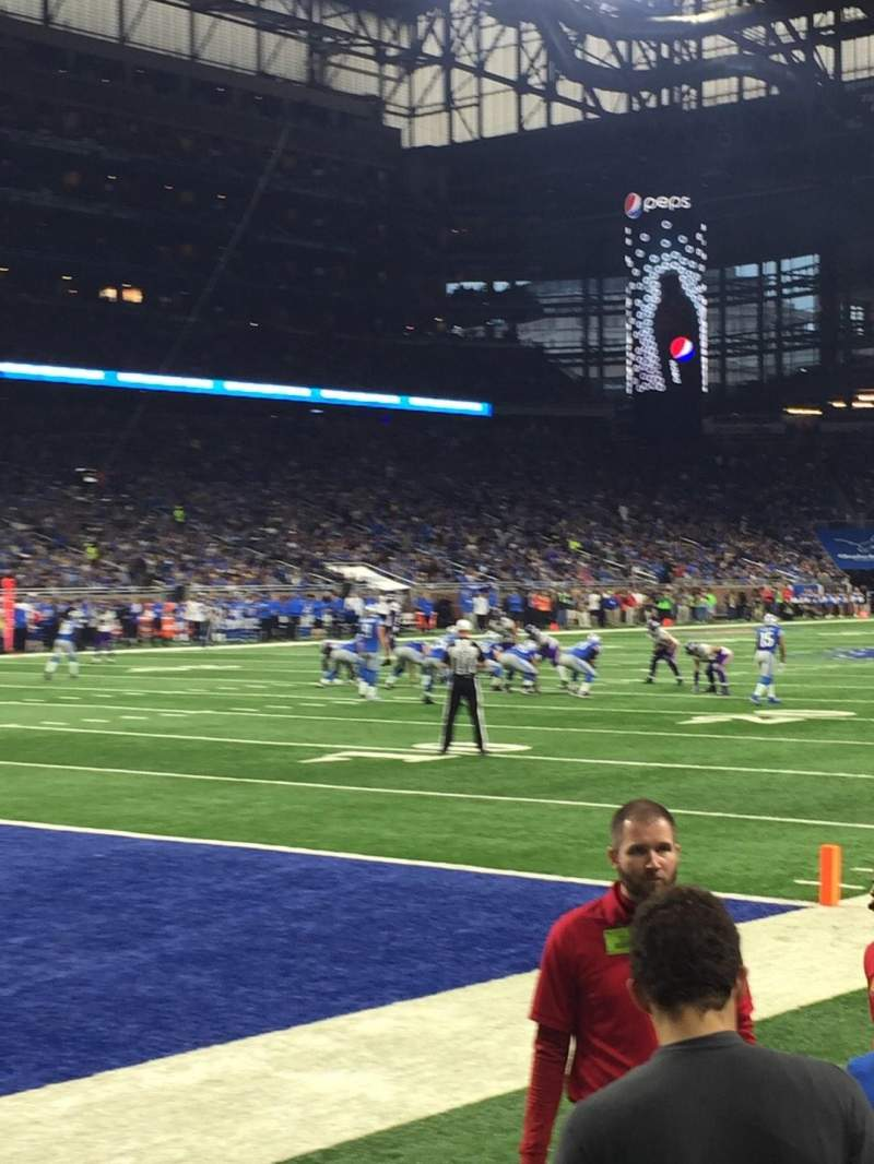 Seating view for Ford Field Section 120 Row 1 Seat 6