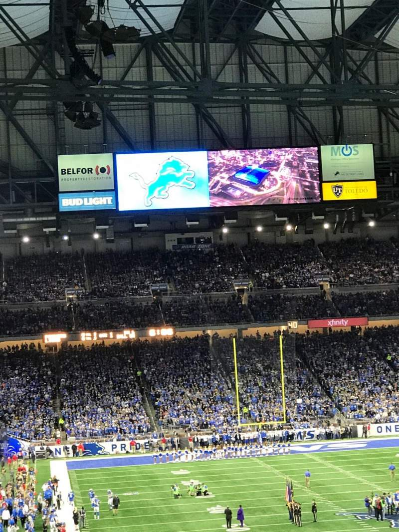 Ford Field, section: 216, row: 1, seat: 8