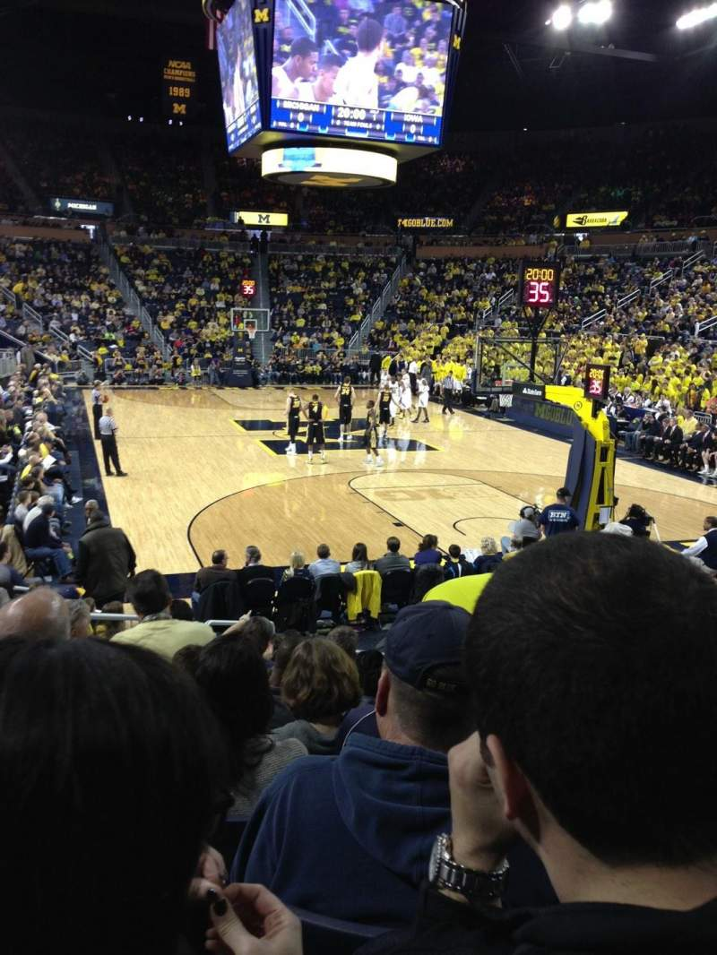 Seating view for Crisler Center Section 116 Row 12 Seat 4