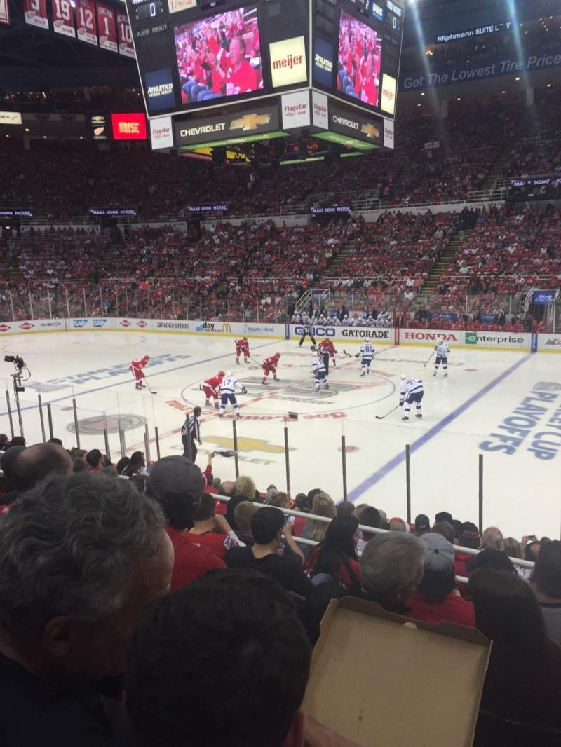 Seating view for Joe Louis Arena Section 120 Row 16 Seat 11