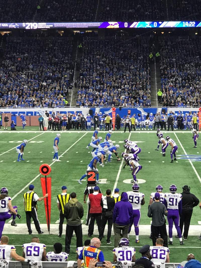 Ford Field, section: 126, row: 14, seat: 21
