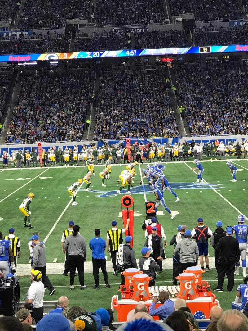Seating view for Ford Field Section 106 Row 5 Seat 7