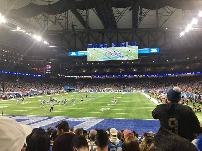 Seating view for Ford Field Section 118 Row 12 Seat 11