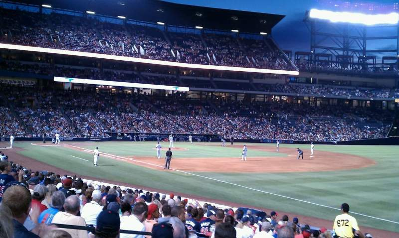 Seating view for Turner Field Section 119 Row 25