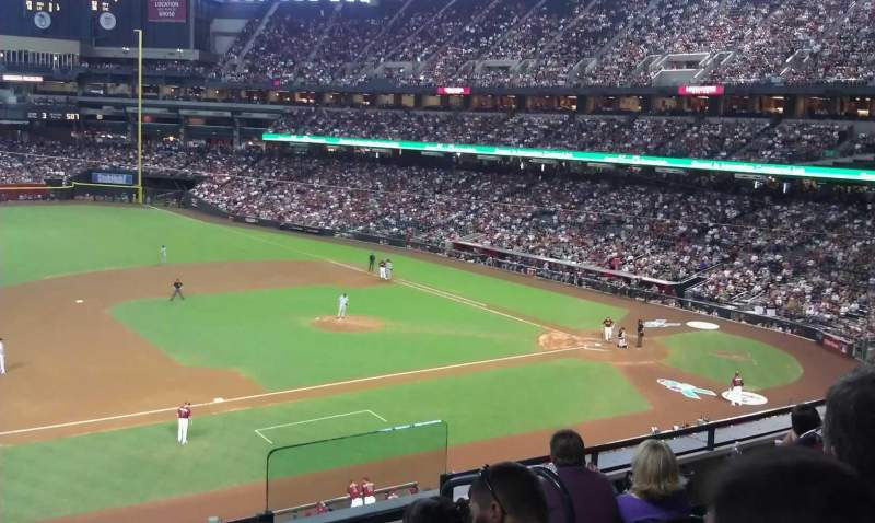 Seating view for Chase Field Section 214 Row 5 Seat 4