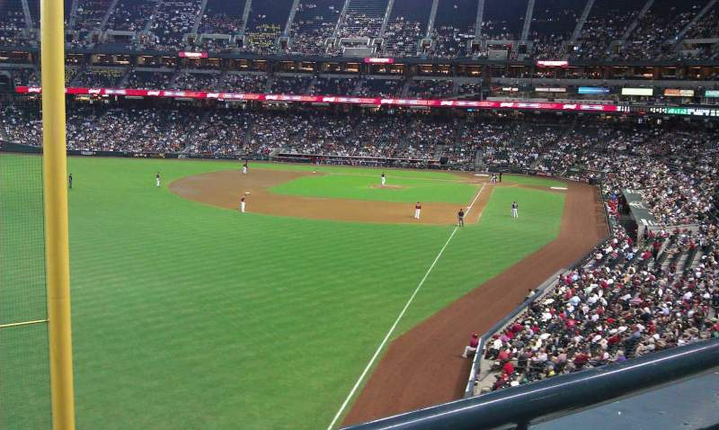Seating view for Chase Field Section 222 Row 1 Seat 4